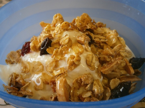 Greek Yogurt with Honey and Granola.
