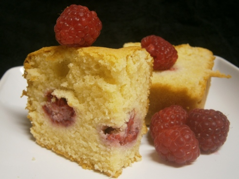 Ispahan Loaf Cake with Raspberries