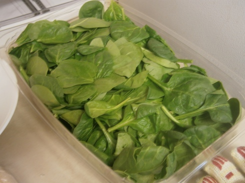 Ten ounces of spinach, to be exact.