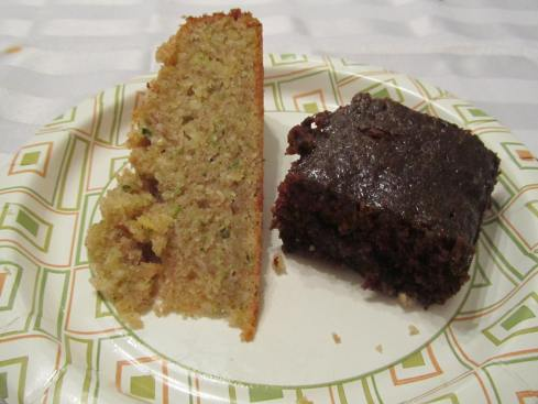Desserts: Zucchini Cake and Chocolate Zucchini Brownies
