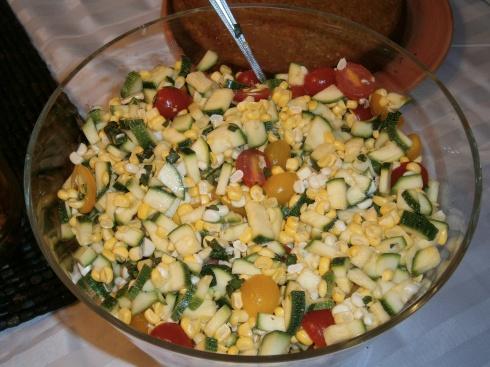 Salad: Zucchini, Corn, & Tomato Salad